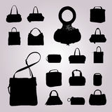 Silhouette bags Stock Photos