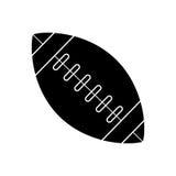 Silhouette ball american football sport vector illustration