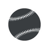 Silhouette ball baseball sport american icon Stock Image