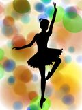 Silhouette of ballet dancer Royalty Free Stock Photo