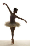 Silhouette ballet dancer Royalty Free Stock Photos