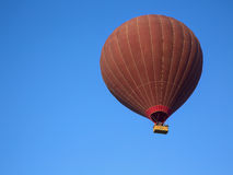 Silhouette of balloon in sky Royalty Free Stock Images