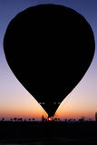 Silhouette of the balloon on sunset Royalty Free Stock Photos