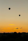 Silhouette of baloons Royalty Free Stock Image