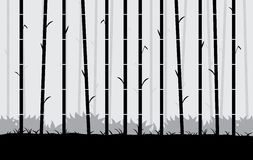 Silhouette bamboo vector Background. Royalty Free Stock Photos