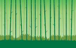 Silhouette bamboo vector Background. Stock Photo