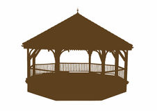 Silhouette of a bandstand. Vector illustration of a bandstand, EPS 10 file Vector Illustration