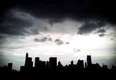 Silhouette of Bangkok City Stock Image