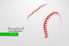 Silhouette of a baseball ball. Vector illustration. Silhouette of a baseball ball. Text on a separate layer, color can be changed in one click. Vector Stock Photography