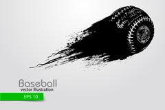 Silhouette of a baseball ball. Vector illustration Stock Images