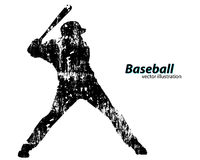 silhouette of a baseball player Royalty Free Stock Image