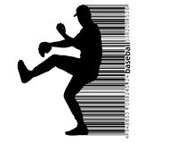 silhouette of a baseball player Stock Photography