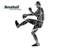 silhouette of a baseball player Royalty Free Stock Photos