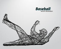 silhouette of a baseball player Royalty Free Stock Images