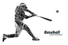 Silhouette of a baseball player. Vector illustration Royalty Free Stock Photos