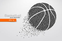 Silhouette of a basketball ball from triangles. Stock Images