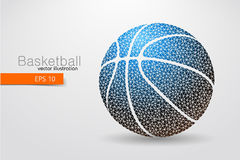 Silhouette of a basketball ball from triangles. Royalty Free Stock Photo