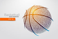 Silhouette of a basketball ball from triangles. Stock Photography