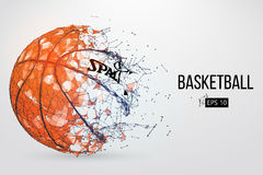 Silhouette of a basketball ball. Vector illustration. Silhouette of a basketball ball. Dots, lines, triangles, text, color effects and background on a separate Royalty Free Stock Photos