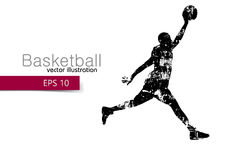 Silhouette of a basketball player. Stock Photography