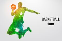 Silhouette of a basketball player. Vector illustration royalty free illustration