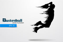 Silhouette of a basketball player. Vector illustration Royalty Free Stock Photos