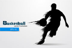 Silhouette of a basketball player. Vector illustration Stock Photo