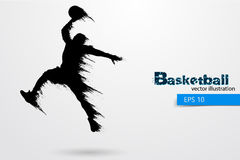 Silhouette of a basketball player. Vector illustration Stock Photos