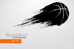 Silhouette of a basketball player. Vector illustration. Silhouette of a basketball player. Background and text on a separate layer, color can be changed in one Royalty Free Stock Photography