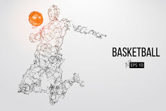 Silhouette of a basketball player. Vector illustration Stock Image