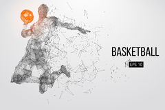 Silhouette of a basketball player. Vector illustration Stock Photography