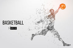 Silhouette of a basketball player. Vector illustration Stock Images
