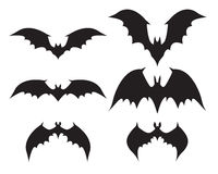 Silhouette of bat with big wings Stock Photos
