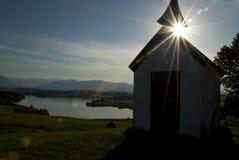 Silhouette bavaroise de chapelle Photos libres de droits