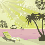 Silhouette of beach. A silhouette view of beach Royalty Free Stock Photography