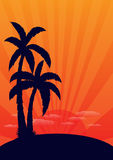 Silhouette beach Royalty Free Stock Photography