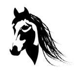 Silhouette beautiful Arabian horse Royalty Free Stock Photos