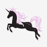 Silhouette of beautiful unicorn. Stock Photography