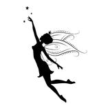 Silhouette of beautiful fairy. Royalty Free Stock Photos