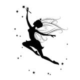 Silhouette of beautiful fairy. Royalty Free Stock Photo