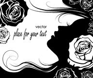 Silhouette of a beautiful girl Royalty Free Stock Photos