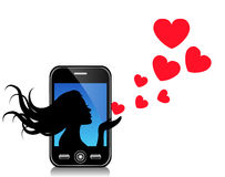 Love message by SMS Royalty Free Stock Images