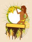 Silhouette of beautiful woman Royalty Free Stock Photo