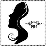 Silhouette of a beautiful woman Stock Photos