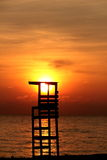Silhouette Beauty of Sunrise Beach Samila Songkhla Royalty Free Stock Image