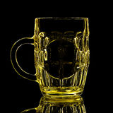 Silhouette of beer glass on black background Stock Image