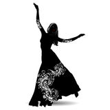 Silhouette belly dancer 2 Royalty Free Stock Image