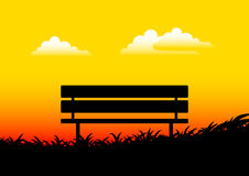 Silhouette of bench Royalty Free Stock Photography