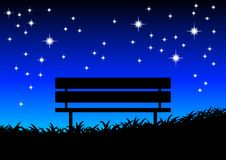 Silhouette of bench Royalty Free Stock Photo