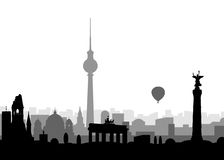 Silhouette of Berlin Stock Photo